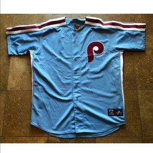 Cooperstown  Blue Philadelphia Phillies Jersey